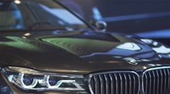 Details of the new model BMW car Stock Footage