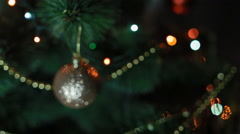 New Year tree with toys and lights Stock Footage