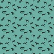 Horse Runs, Hops, Gallops Isolated. Seamless Pattern Stock Illustration