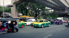 Road Traffic In Bangkok In Daytime Stock Footage