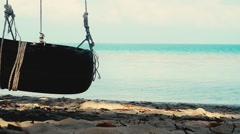 Swing On the Beach Stock Footage