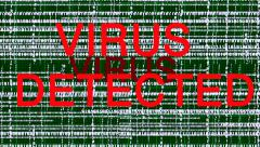 Stock Video Footage of Computer binary code infected with a virus