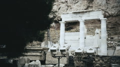 Documentary movie about classical Greek architecture, archaeological excavations Stock Footage