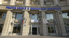 The Bucharest local police headquarters Stock Footage