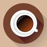 Coffee cup icon - stock illustration