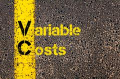 Accounting Business Acronym VC Variable Costs - stock photo