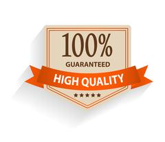 Stock Illustration of Satisfaction guaranteed label vector illustration