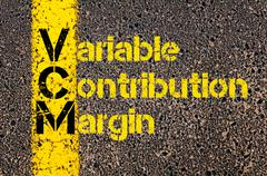 Accounting Business Acronym VCM Variable Contribution Margin - stock photo