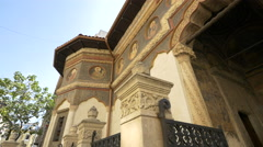 Stavropoleos Church with religious icons in Bucharest Stock Footage