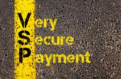 Accounting Business Acronym VSP Very Secure Payment - stock photo