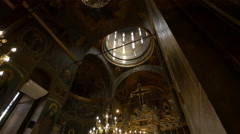Visiting Stavropoleos Church in Bucharest Stock Footage