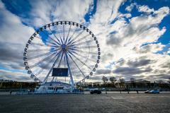 The Roue de Paris at Place de la Concorde, in Paris, France. - stock photo