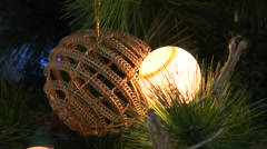 Flashing lights on the Christmas tree - stock footage