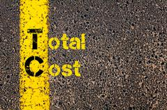 Accounting Business Acronym TC Total Cost - stock photo