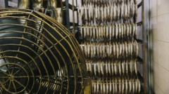 Stock Video Footage of Industrial fans for drying fish