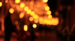 Silhouettes of street for holidays Stock Footage