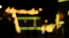 Abstract lights on the street for Holidays - out of focus clip - stock footage