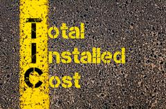 Accounting Business Acronym TIC Total Installed Cost - stock photo
