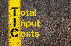 Accounting Business Acronym TIC Total Input Costs Stock Photos