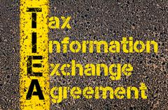 Accounting Business Acronym TIEA Tax Information Exchange Agreement Stock Photos