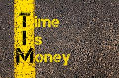 Accounting Business Acronym TIM Time Is Money Stock Photos