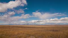 Time lapse clouds cross open prairie, Idaho - Time Lapse 2006 HD, 4K Stock Footage