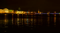 St. Petersburg, panoramic view of the Peter and Paul fortress. Stock Footage