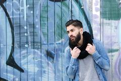 Stock Photo of Male fashion model with beard
