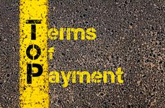 Stock Photo of Accounting Business Acronym ToP Terms of Payment