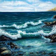 Ocean shore Stock Illustration