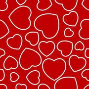 heart seamless repeated - stock illustration