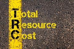 Accounting Business Acronym TRC Total Resource Cost Stock Photos
