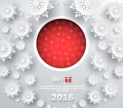 Stock Illustration of Snowflakes Background 2016
