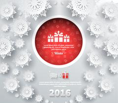 Snowflakes Background 2016 - stock illustration