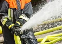 Fireman at work - stock photo