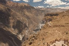 Lookout point for watching condors in Colca, Arequipa, Peru. - stock photo
