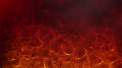 Fire and flames rise up - stock footage