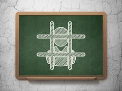 Stock Illustration of Law concept: Criminal Freed on chalkboard background