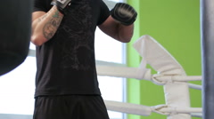 Kickboxing classes Stock Footage