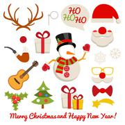 Stock Illustration of Xmas photo booth and scrapbooking vector set