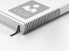 Politics concept: closed book, Ballot on white background - stock illustration