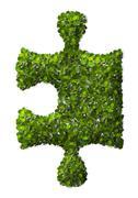 Puzzle Leaf texture. Stock Illustration