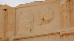 Classical Greek architecture, remains of ancient metope on Parthenon frieze Stock Footage