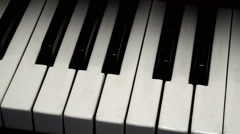 Piano keys. Black and white. Stock Footage