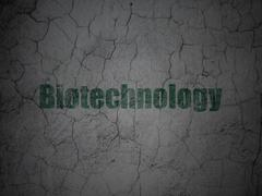 Science concept: Biotechnology on grunge wall background - stock illustration
