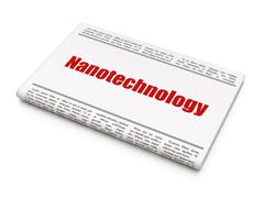 Science concept: newspaper headline Nanotechnology Stock Illustration