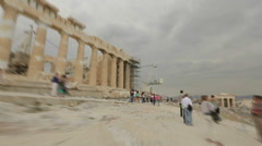 Time-lapse of tourist looking at ancient historic sites, sightseeing attraction Stock Footage