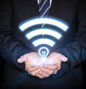 Li-Fi High Speed Wireless connection Stock Photos