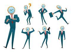 Stock Illustration of Businessman watch head vector illustration