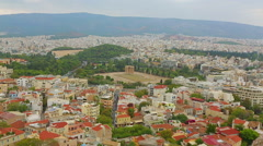 Beautiful aerial view of ancient Greek capital city, major tourist attraction Stock Footage